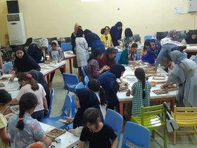 کارگاه آموزشی سفال نقش برجسته در مرکز فرهنگی هنری کانون شماره ۴ بندرعباس