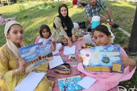 پویش کتاب و کتابخوانی در بوستان مریوان برگزار شد
