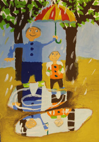 درخشش نوجوان نقاش ایلامی در کشور چک