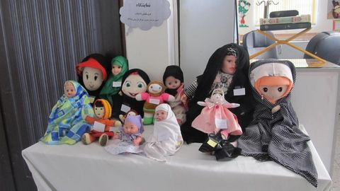 نمایشگاه «عروسکهای با حجاب من» در کانون درمیان