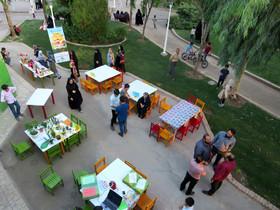 گزارش تصویری پویش «فصل گرم کتاب» در بوستان نرگس قم