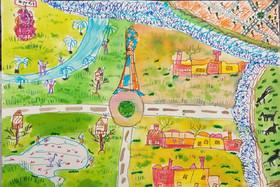 مسابقهی نقاشی تصویر من از شهر دوستدار کودک در سمنان