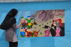 اجرای نقاشی روی دیوار و معرفی تاریخ صفویان توسط اعضای کانون اردبیل- بخش اول