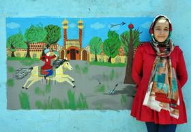 اجرای نقاشی روی دیوار و معرفی تاریخ صفویان توسط اعضای کانون اردبیل(۲)