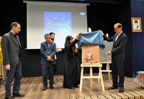 نقاشی دیواری به طول ۱۲۰ متر با هنرمندی۹۰ نفر از اعضای فعال مراکز کانون اردبیل