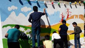 گزارش تصویری از اجرای «نقاشی خیابانی» اعضای کانون لرستان