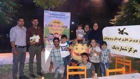 استقبال کودکان و نوجوانان از ویژه برنامه پویش فصل گرم کتاب  در زنجان