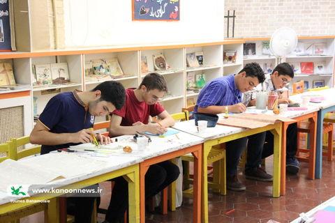 چهارمین انجمن تخصصی نقاشی در مرکز شماره 3 کانون تهران/ عکس از یونس بنامولایی