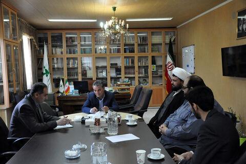 دیدار معاون فرهنگی ستاد نماز جمعه با مدیرکل کانون استان اردبیل
