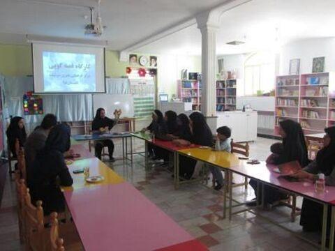 برگزاری کارگاه آموزش قصه گویی در کانون سربیشه