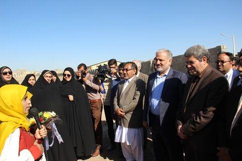 اعضای کانون پرورش فکری زبان گویای سیستان و بلوچستان در سفر سرپرست وزارت آموزش و پرورش به استان