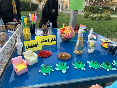 پویش فصل گرم کتاب در بوستان امام حسن قم