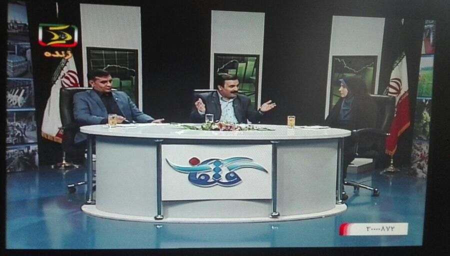 """حضور مدیر کل کانون پرورش فکری کودکان و نوجوانان استان کردستان  در برنامه زنده تلویزیونی """"گفتمان"""""""
