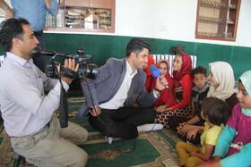 یک روز با اصحاب رسانه در روستاهای تحت پوشش کتابخانه سیار روستایی کانون در منطقه مرزی سیلوانا