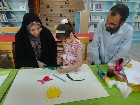 اختتامیه کارگاه نقاشی کانون شماره 3 بیرجند با همراهی خوب والدین