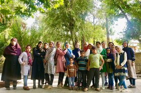 گزارش تصویری اردوی یکروزه اعضای مرکز شماره ۷ کانون قم به روستای کرمجگان