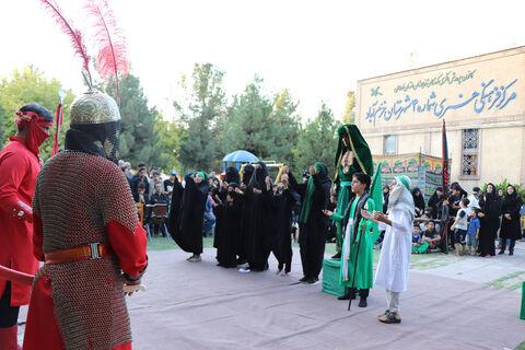 تعزیه شهادت حضرت علی اکبر (ع) درخرم آباد اجرا شد