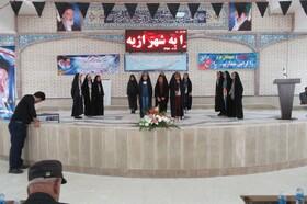 هنرنمایی اعضاء کانون پرورش فکری در مراسم افتتاحیه طرح های عمرانی شرق اصفهان