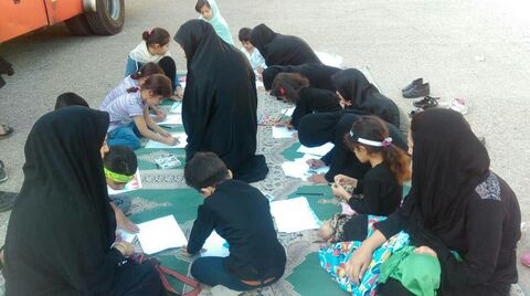 ایستگاه نقاشی کانون لرستان در همایش شیرخوارگان حسینی خرم آباد