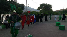 تعزیه شهادت حضرت علی اکبر (ع) درخرم آباد