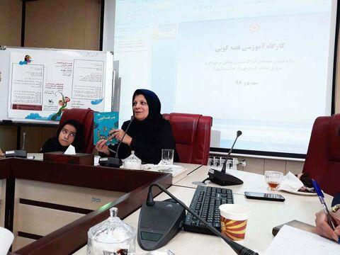 دوره آموزش« فنون ومهارتهای قصهگویی» ویژه مربیان مهدهای کودک در البرز برگزار شد
