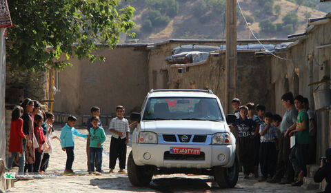 همراه با کتابخانه سیار روستایی کانون پرورش فکری کودکان و نوجوانان شهرستان مریوان