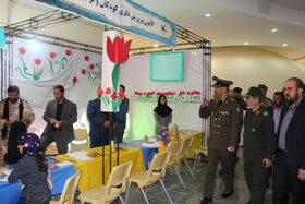 افتتاح غرفه کانون آذربایجان شرقی در نمایشگاه استانی هفته دفاع مقدس