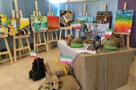 افتتاحیه نمایشگاه نقاشی چهل سال اقتدار