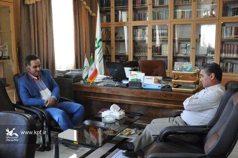حضور رئیس بنیاد کودک نمایندگی اردبیل در کانون و دیدار با مدیرکل استان