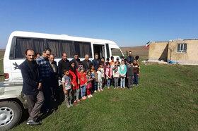 طرح امداد فرهنگی«پیک امید» پیامآور نشاط در مناطق محروم اردبیل