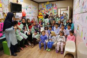 عیادت از کودکان بستری بیمارستان قلب شهید رجایی