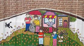 اعضای کانون بروجرد بر روی دیوار نقاشی کشیدند