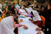 کودکان با نیازهای ویژه میهمان کانون پرورش فکری کودکان و نوجوانان استان کردستان بودند