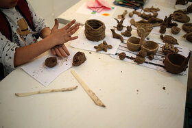 بازدید کودکان کار موسسه خورشید از کارگاه های مرکز آفرینشهای فکری