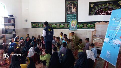 پیک امید کانون خراسان جنوبی میهمان بچههای شهرک عشایری مهر دشت