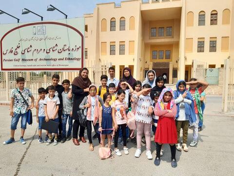 بازدید اعضا کانون مرکز فرهنگی هنری کانون شماره ۴ بندرعباس از موزه مردم شناسی  هرمزگان