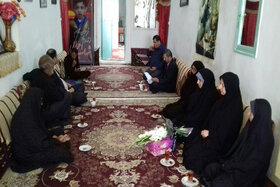 دیدار با خانواده عضو آسمانی کتابخانه پستی در روستای کندوی سمنان