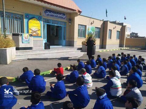 مربیان کانون خراسان جنوبی میهمان دانشآموزان دبستان حضرت قاسم (ع)