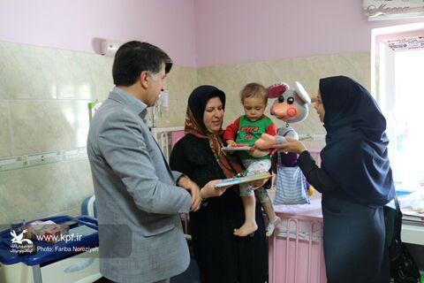 عیادت مسوولین استان از کودکان بستری در بیمارستان