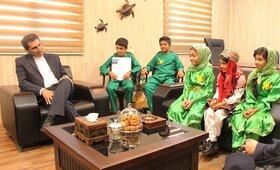 مدیرکل حفاظت محیط زیست سیستان و بلوچستان میزبان کودکان کانون پرورش فکری