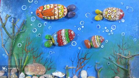 هنرنمایی اعضاومربیان مرکز شماره2خرم آباد در« کار باسنگ»