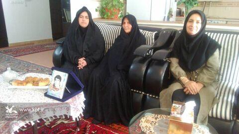 آیینهای بزرگداشت هفته ملی کودک در مراکز کانون آذربایجان شرقی(دیدار با خانواده معظم شهدا)