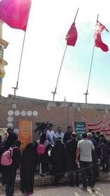برپایی ایستگاههای نقاشی و دل نوشتههای حسینی کانون در مرز چذابه