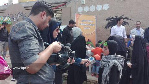 خدمترسانی فرهنگی به زائرین کودک و نوجوان اربعین در مرز چذابه