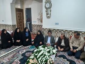 """دیدار با خانواده شهید نوجوان"""" ابوالقاسم علی پور""""  در یاسوج"""