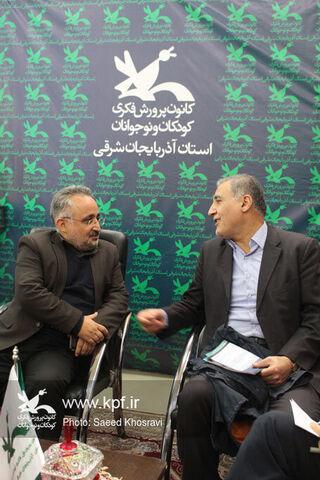 حضور دکتر بیگی نماینده تبریز آذرشهر و اسکو در غرفه کانون در نمایشگاه کتاب تبریز