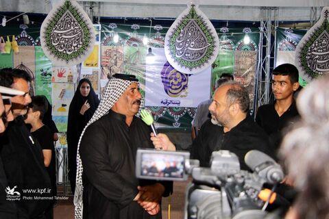 «موکب بیتالرقیه» کانون استان قم در عمود ۱۲۲۲ مسیر پیادهروی اربعین