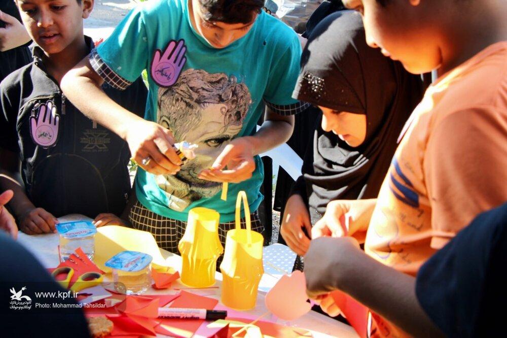 کلیپ فعالیتهای کانون استان قم در عمود ۱۲۲۲ مسیر پیاده روی اربعین