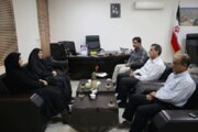 نشست هم اندیشی سرپرست کانون پرورش فکری کودکان و نوجوانان  استان بوشهر با مدیرعامل شرکت عمران عالیشهر