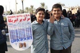 مراسم راهپیمایی گرامیداشت 13 آبان و روز دانش آموز (بوشهر)